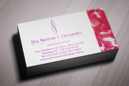 Cartão de visita Drª. Nurimar Fernandes